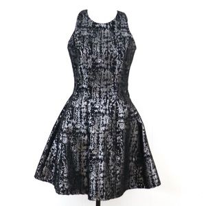 Do Be black metallic dress cocktail party Small